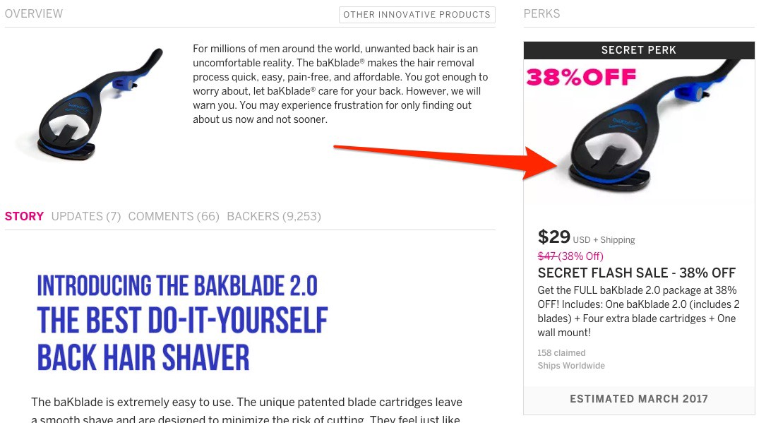 A crowdfunding flash sale can bring in a lot of revenue