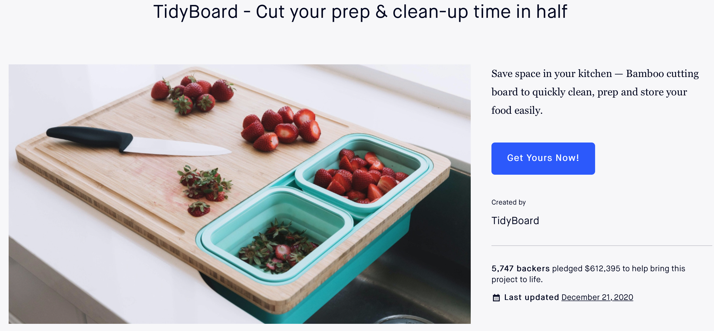 How we raised $612,395 for TidyBoard on Kickstarter [CASE STUDY]
