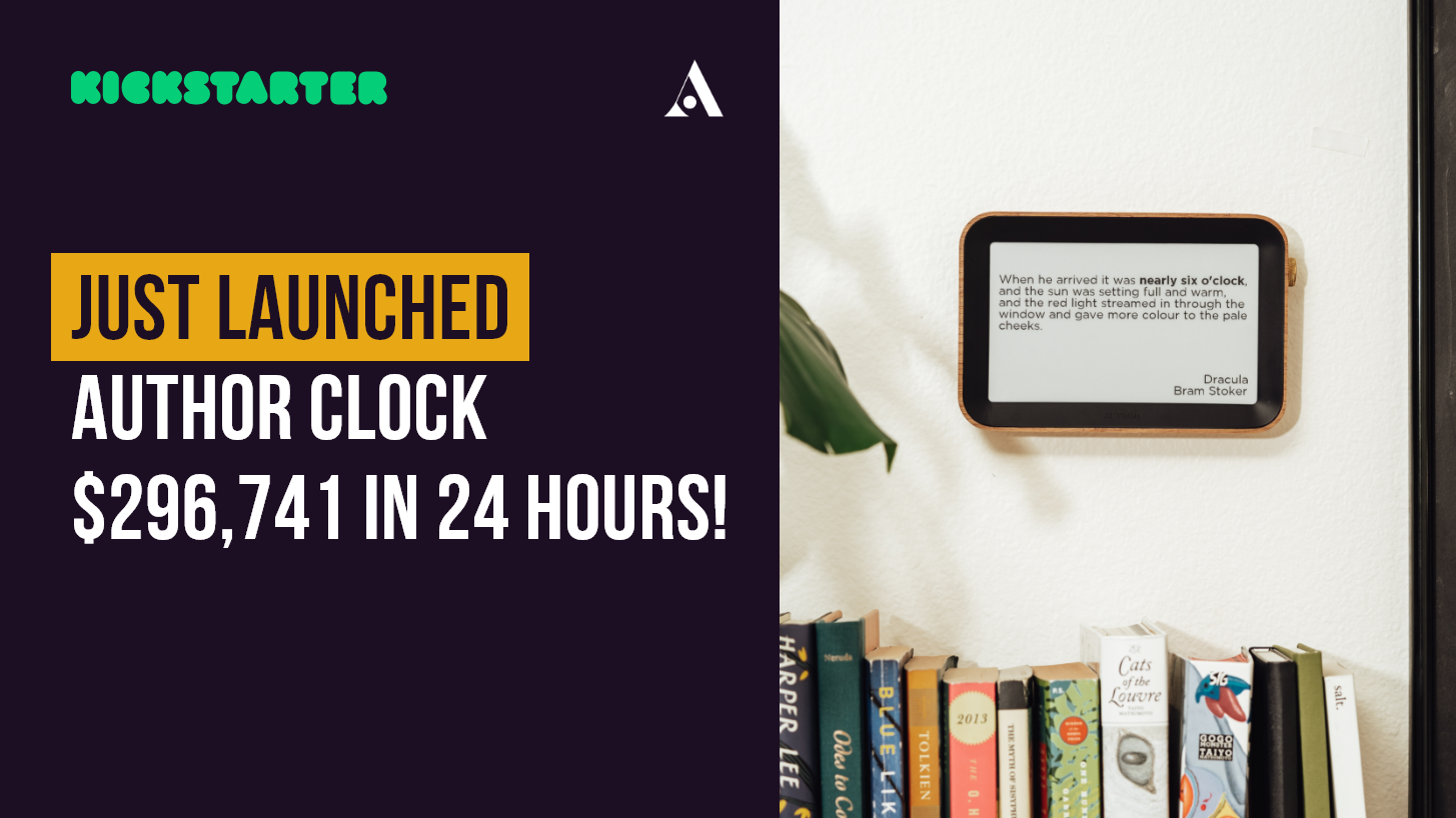 Just Launched: Author Clock – $296,741 in 24 Hours!